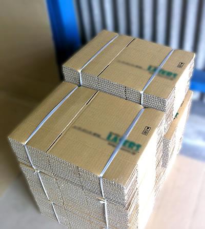 精密機器商品発送用の箱 100枚A式 二色印刷