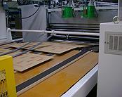 印刷されるシート
